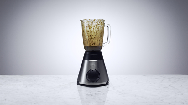 A blender containing blended poo