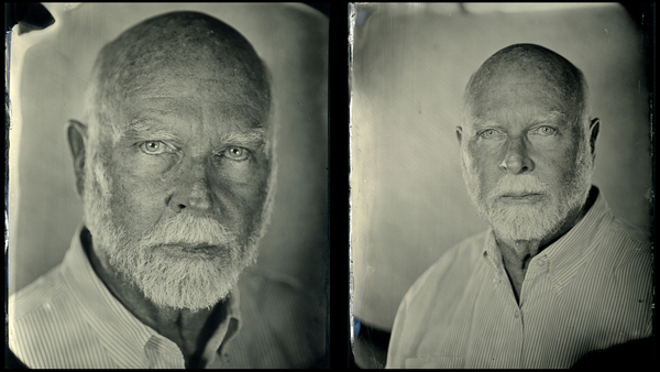 Craig Venter tintype photo by Jen Jansen