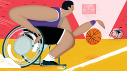 Wheelchair basketball illustration