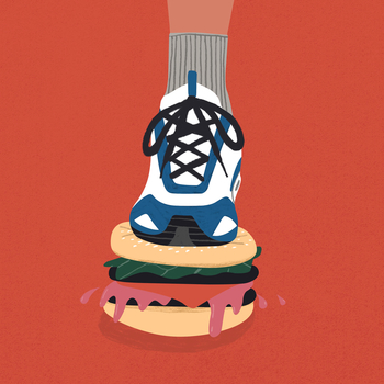 Trainer and burger