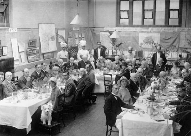 'Mosquito Day' luncheon given by Ronald Ross at the Ross Institute and Hospital for Tropical Diseases, Putney, London, to celebrate the discovery of the transmission of malaria by the mosquito. 20 August 1931.