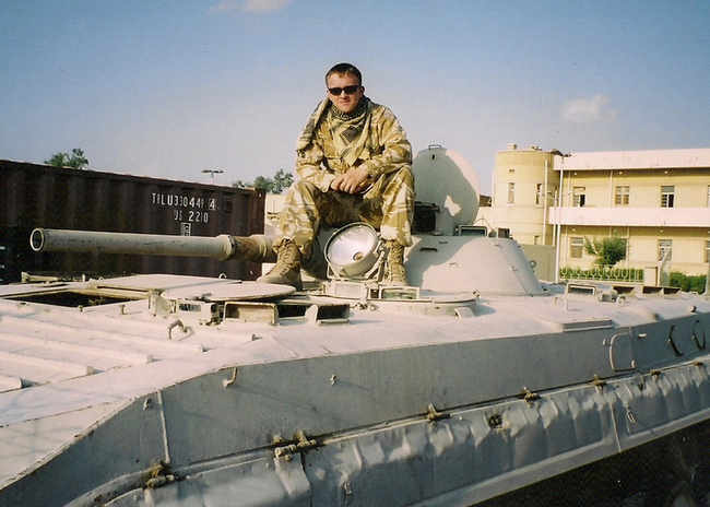 Adam in the army in Iraq