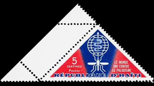 World United Against Malaria: Haitian postage stamp, 1962.