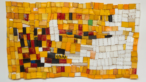 From 'Plastics journey series, 2015' by Serge Attukwei Clottey. Plastics and copper wire materials. Photographed by Nii Odzenma.