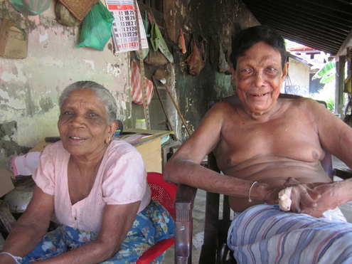 Premawathe Ukuna and Maha Puthiasay are one of the several couples at the Hendala Leprosy Hospital