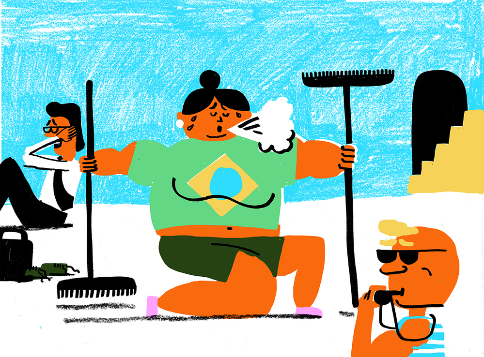 Brazil gym illustration 2